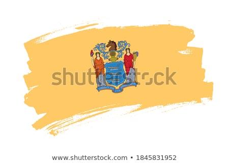 ABD New Jersey bayrak beyaz 3d illustration doku Stok fotoğraf © tussik