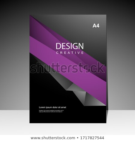 creative magazine booklet cover template for promotion Stock photo © SArts
