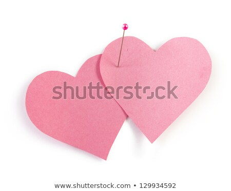 two connected paper hearts stock photo © genestro