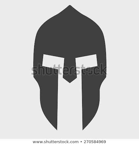 Helmet Headpiece Isolated. Medieval Armour. Stock photo © robuart