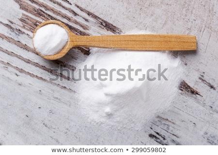 Soda cozinhar branco colher Foto stock © Digifoodstock