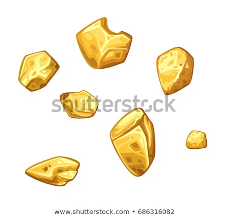 Gold Nugget Collection Stock photo © albund
