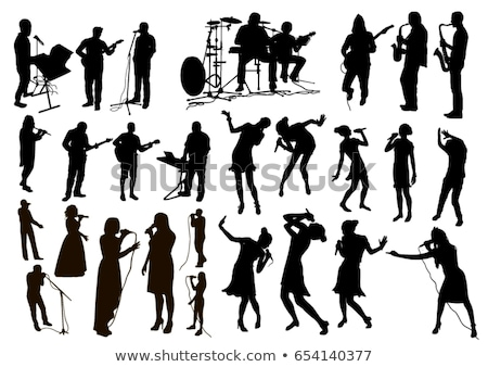 Fekete fehér háttér út zene fém Stock fotó © kayros