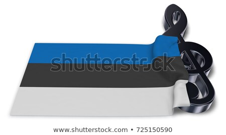clef symbol and estonian flag - 3d rendering Stock photo © drizzd