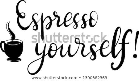Expressz magad eszpresszó stílus fehér bögre Stock fotó © Fisher