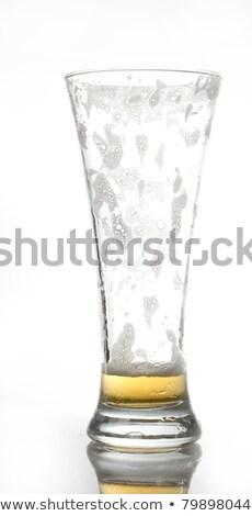 üres kicsi sör üveg izolált fehér Stock fotó © Cipariss