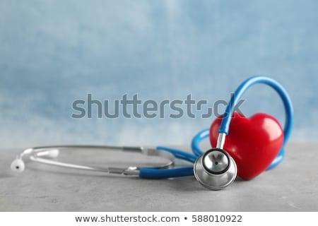 Diagnózis szívinfarktus orvosi zöld elmosódott szöveg Stock fotó © tashatuvango