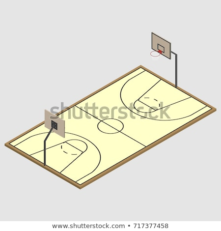 Basketball Shield With Basket In Isometric Vector Illustration Сток-фото © kup1984