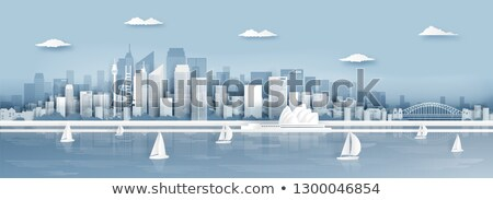 Travel Australia paper cut world monuments Stock photo © cienpies