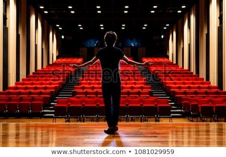 Gyakorol játék színpad színház nő piros Stock fotó © wavebreak_media
