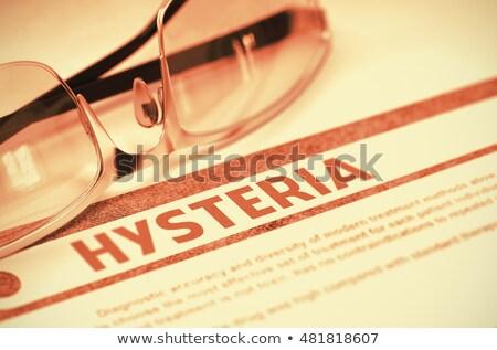 Diagnóstico histeria medicina 3d impreso borroso Foto stock © tashatuvango