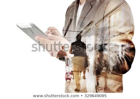af · vliegtuigen · verdubbelen · blootstelling · luchthaven - stockfoto © alphaspirit