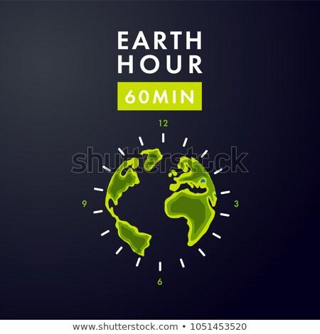 25 terra hora calendário dia cartão Foto stock © Olena