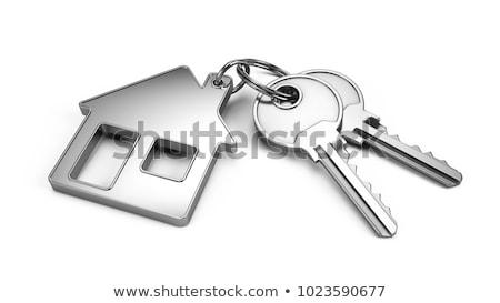 Сток-фото: сохранить · ключевые · 3D · тонкий · алюминий · клавиатура
