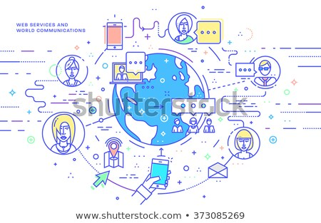 Stock photo: Time icons - modern set of flat design infographics elements