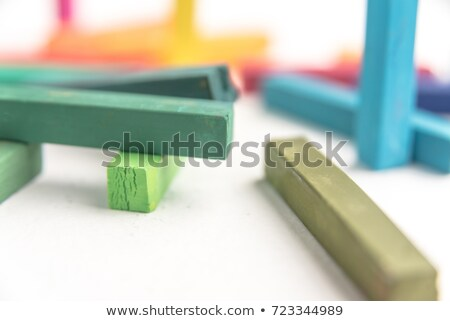 Pastel chalks in chaotic manner Stock photo © deandrobot