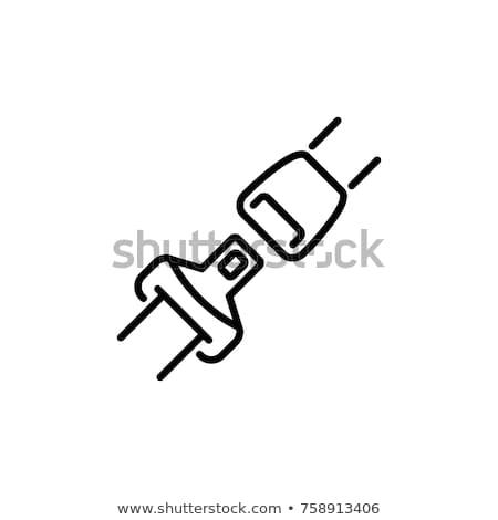 сиденье · пояса · линия · икона · вектора · изолированный - Сток-фото © rastudio