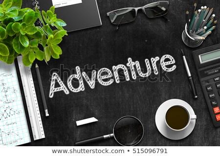 Adventure текста черный доске 3D Сток-фото © tashatuvango