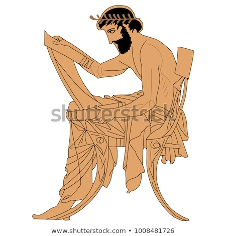 antik · görög · váza · olajbogyó · ág · izolált - stock fotó © robuart
