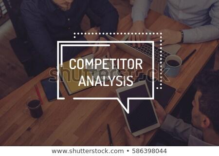 competitive analysis on file folder toned image stock photo © tashatuvango