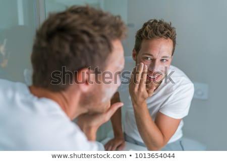 facial skincare anti ageing exfoliation stock photo © phakimata