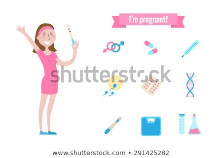 pregnant woman with test tube Stock photo © IS2