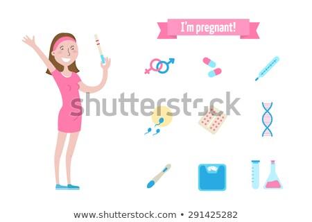 Mulher grávida test tube médico ciência futuro crescimento Foto stock © IS2