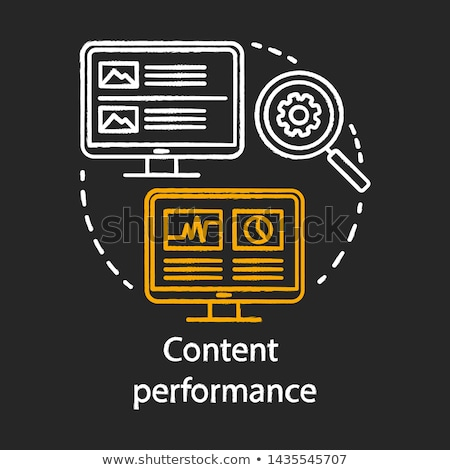 SEO Performance Concept. Doodle Icons on Chalkboard. Stock photo © tashatuvango