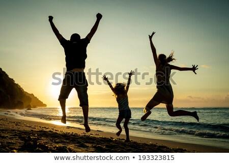 люди закат ног вверх таблице Сток-фото © fotoedu