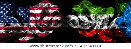 Futball lángok zászló Egyenlítői-Guinea fekete 3d illusztráció Stock fotó © MikhailMishchenko