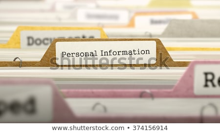 index card with personal information 3d stock photo © tashatuvango