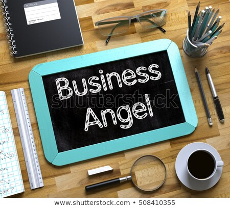 小 黒板 天使 投資家 3次元の図 緑 ストックフォト © tashatuvango
