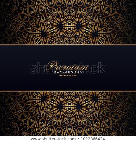 Arany mandala sötét terv jóga ázsiai Stock fotó © SArts