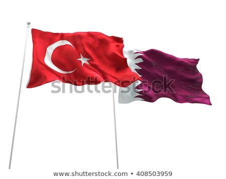 Katar patriota odizolowany biały mężczyzna sportowe Zdjęcia stock © rogistok