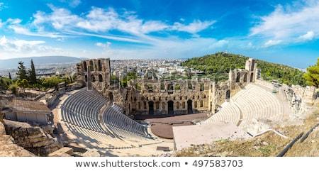 színház · Athén · Görögország · nagyszerű · görög · utazás - stock fotó © ankarb