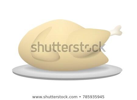 pollame · bianco · carne · design · ristorante · bar - foto d'archivio © jiaking1