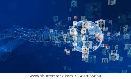 Világ emberek kapcsolatok absztrakt hálózat technológia Stock fotó © alexaldo