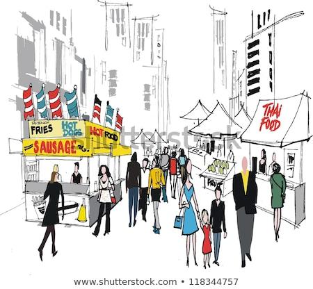 Stok fotoğraf: Kadın · pazar · gıda · moda · alışveriş · eğlence