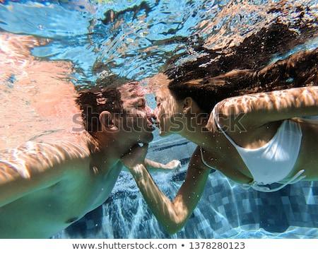 Piscina subacuático vista hombre Pareja Foto stock © IS2