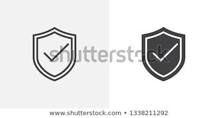 щит икона различный стиль вектора символ Сток-фото © sidmay