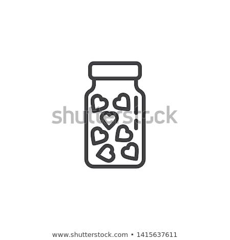 love medicine bottle with pills of love vector illustration of stock photo © popaukropa