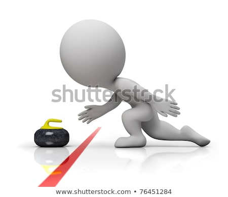 3d small people - curling stock photo © AnatolyM