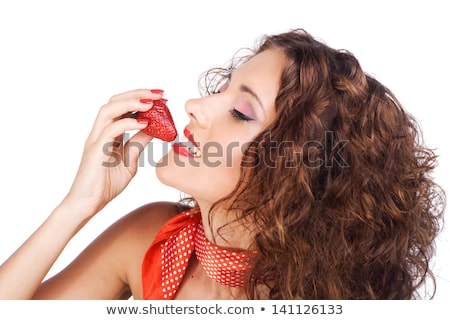 seductive woman with strawberry stock photo © anna_om