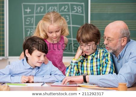 professor · leitura · primário · classe · crianças - foto stock © monkey_business