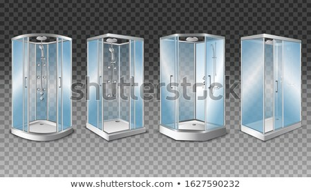 Water in head Glass transparent. Vector illustration Stock photo © popaukropa