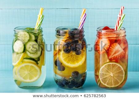 detoxikáló · gyümölcs · víz · frissítő · nyár · házi · készítésű - stock fotó © Lana_M