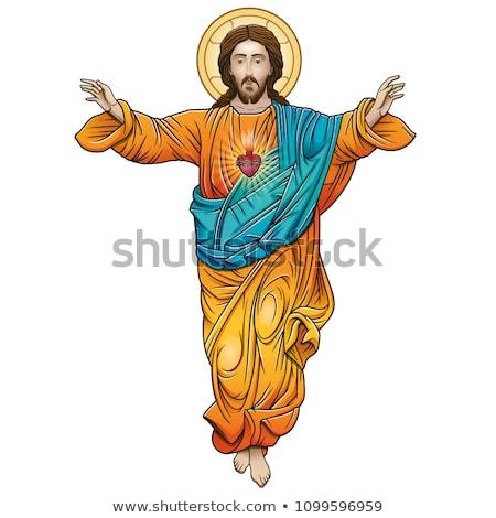 tepe · üç · simge · İsa · Paskalya · gündoğumu - stok fotoğraf © popaukropa