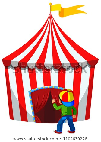 A Boy Enter the Circus Tent Stock photo © bluering