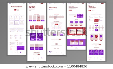 Web Page Design Vector. Website Business Reality. Shopping Online Site Scheme Template. Cyber Monday Stock photo © pikepicture