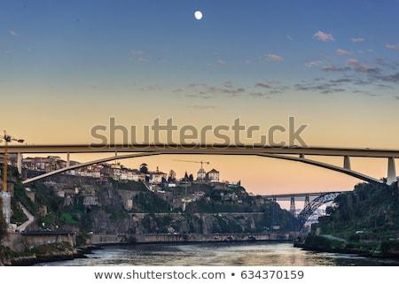 Eiffel köprü Portekiz Bina sanat Stok fotoğraf © joyr